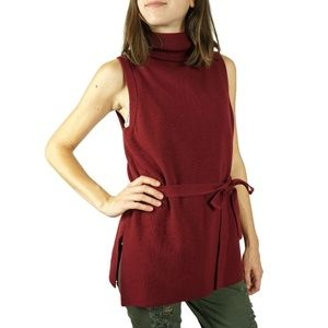 Anthropologie Belted Sleeveless Turtle Neck XS